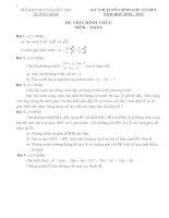 Tài liệu ĐỀ THI TUYỂN SINH LỚP 10 MÔN : TOÁN pdf