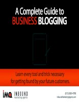 A Complete Guide to Business blogging