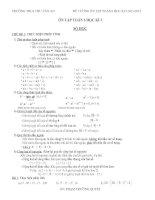 DE CUONG ON TAP TOAN 6 HAY 20132014