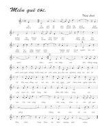Tài liệu Bài hát miền quê tôi - Thùy Linh (lời bài hát có nốt) ppt