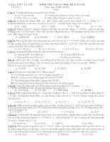 Tài liệu Đề thi Vật lý học kỳ 2 của lớp 12 docx