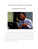 """Tài liệu Tom Peters """"Chúng ta cần những con người sáng tạo"""" pdf"""