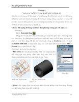 Tài liệu Bài giảng thiết kế kỹ thuật - Chương 4: Tạo các đối tượng 3D từ đối tượng 2D ppt