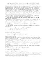 Tài liệu Một số phương pháp giải nhanh bài tập trắc nghiệm THPT pdf