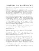Tài liệu Nghệ thuật gặp gỡ với một thiên thần đầu tư (Phần 1) doc