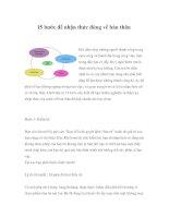 Tài liệu 15 bước để nhận thức đúng về bản thân pptx