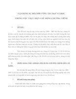 Tài liệu VẬN DỤNG SỰ ĐỔI MỚI CÔNG TÁC DẠY VÀ HỌC TRONG VIỆC THỰC HIỆN CHỦ ĐỘNG CHƯƠNG TRÌNH doc