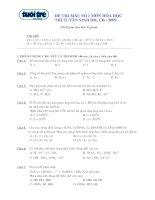 Tài liệu Đề thi mẫu số 1 tuyển sinh CĐ ĐH môn Hóa năm 2009 doc
