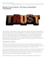 Social trust factor 10 tips to establish credibility