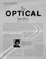Tài liệu The optical last mile doc