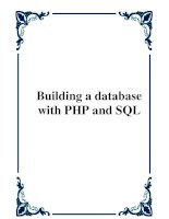 Tài liệu Building a database with PHP and SQL ppt