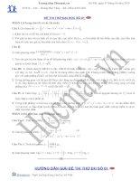Tài liệu Đề và đáp án thi thử đại học môn Toán 2010_số 01 ppt