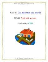 Tài liệu Chủ đề: Gia đình thân yêu của tôi - Đề tài: Ngôi nhà mơ ước - Nhóm lớp: Chồi pdf