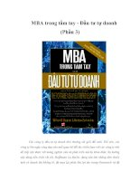 Tài liệu MBA trong tầm tay - Đầu tư tự doanh (Phần 3) Các công ty đầu tư tự doanh nhỏ pptx