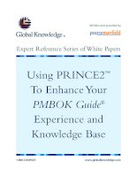 Tài liệu Using Prince2 to Enhance guide experience and knowledge base ppt