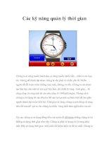 Tài liệu Các kỹ năng quản lý thời gian docx