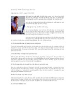 Tài liệu 8 cách hay để bắt đầu một ngày làm việc pptx