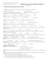 Tài liệu Đề kiểm tra học kì 1, môn toán 11 pdf