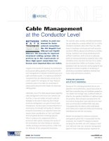 Tài liệu KRONE - White paper - TrueNET - Cable Management at conductor Level doc