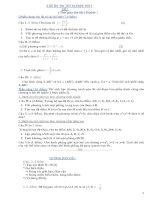 Tài liệu Đề thi thử tốt nghiệp THTP môn Toán (Có đáp án) - Đề số 1-5 ppt