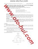 Tài liệu Thiết kế hệ thống truyền lực cho ô tô Hybrid 4 chỗ ngồi bố trí song song doc