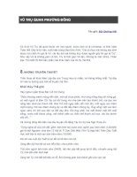Tài liệu VŨ TRỤ QUAN PHƯƠNG ĐÔNG docx
