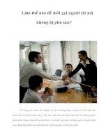 Tài liệu Làm thế nào để mời gọi người tài mà không bị phá sản? pdf