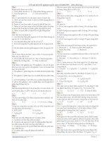 Tài liệu 518 câu trắc nghiệm luyện thi đại học doc