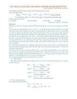 Kỹ thuật giải bài toán hóa học hoàn thành sơ đồ phản ứng