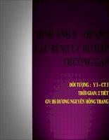 BÀI GIẢNG HÌNH ẢNH XQ CÁC BỆNH LÝ HÔ HẤP THƯỜNG GẶP