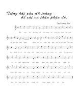 Tài liệu Bài hát dã tràng 2 - Trịnh Công Sơn (lời bài hát có nốt) docx
