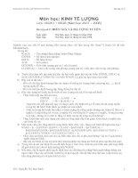 Tài liệu Bài tập số 2: Biến giả và đa cộng tuyến - Lớp 05QK1 +06QB pdf