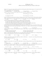 Tài liệu Đề thi thử số 9 môn: Vật lí pdf