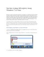 Tài liệu Sao lưu và phục hồi registry trong Windows 7 và Vista pptx