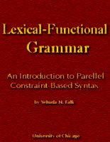 Tài liệu Lexical Functional Grammar doc