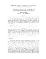 Tài liệu Nghiên cứu chế tạo và khảo sát các đặc trưng của cảm biến vi cơ đo lực pdf