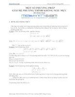 Tài liệu Một số phương pháp giải hệ phương trình không mẫu mực_Hồ Đình Sinh pdf