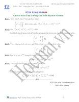 Tài liệu Các bài toán về hệ số trong khai triển nhị thức Newton (Bài tập và hướng dẫn giải) pptx
