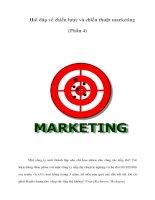 Tài liệu Hỏi đáp về chiến lược và chiến thuật marketing (Phần 4) docx