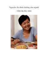 Tài liệu Nguyên tắc dinh dưỡng cho người viêm dạ dày mãn docx