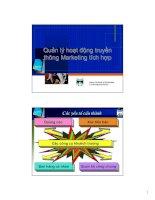 Tài liệu Quản lý hoạt động truyền thông Marketing tích hợp pptx