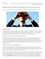 Who Are Your Online Competitors? Find Out for Free