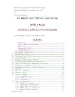 Tài liệu Tài liệu giảng dạy: Kỹ thuật môi trường đại cương (Chương 4) pptx