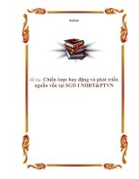 """Tài liệu Đề tài """"Chiến lược huy động và phát triển nguồn vốn tại SGD I NHĐT&PTVN"""" doc"""