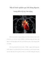 Tài liệu Một số kinh nghiệm quý khi dùng digoxin trong điều trị suy tim nặng pdf