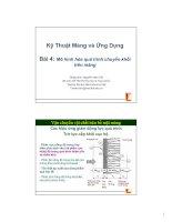 Tài liệu Bài 4: Mô hình hóa quá trình chuyển khối trên màng docx