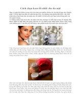 Tài liệu Cách chọn kem tốt nhất cho da mặt pptx