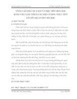 KINH NGHIỆM DẠY HỌC - NÂNG CAO HIỆU QUẢ DẠY MÔN HÓA HỌC BẰNG CÁCH GIẢI THÍCH CÁC HIỆN TƯỢNG THỰC TẾ
