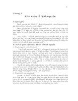 Tài liệu Chương 3 Khái niệm về bệnh nguyên doc