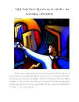 Tài liệu Nghệ thuật Quản lý nhân sự từ cái nhìn của Konosuke Matsushita doc